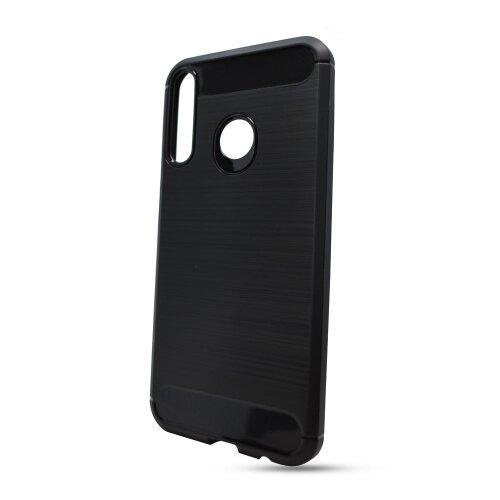 Huawei Y8S čierne gumené puzdro, Carbon