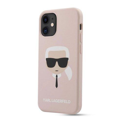 Puzdro Karl Lagerfeld pre iPhone 12 Mini (5.4) KLHCP12SSLKHLP silikónové, ružové