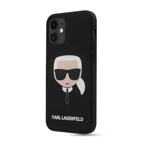 Puzdro Karl Lagerfeld pre iPhone 12 Mini (5.4) KLHCP12SSLKHBK silikónové, čierne