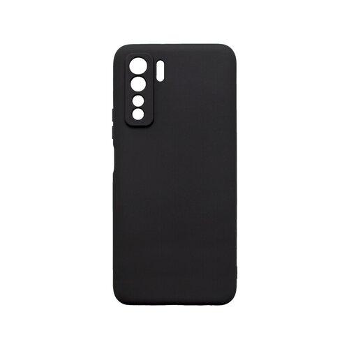 Huawei P40 Lite 5G čierne gumené puzdro, matné