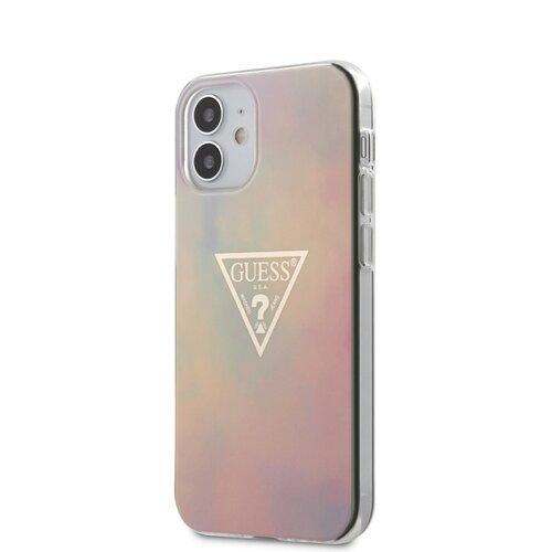 Puzdro Guess pre iPhone 12 Mini (5.4) GUHCP12SPCUMCGG01 silikónové, ružové