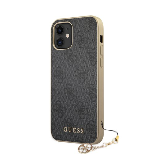 Puzdro Guess pre iPhone 12 Mini (5.4) GUHCP12SGF4GGR silikónové, sivé