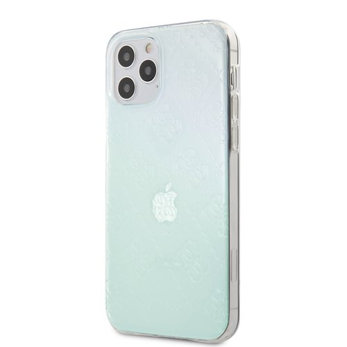Puzdro Guess pre iPhone 12/12 Pro (6.1) GUHCP12M3D4GIRBL silikónové