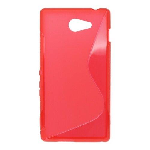 Gumené puzdro S-line Sony Xperia M2, červené