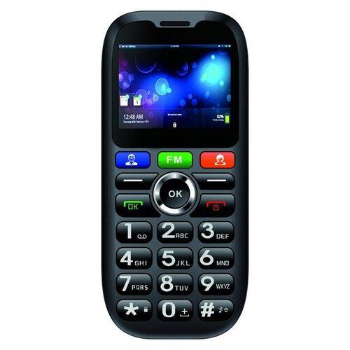 CUBE1 S100 Senior Dual SIM, Čierny - porušené balenie