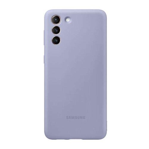 Puzdro Samsung Silikón EF-PG991TVE pre S21 G991 - fialové