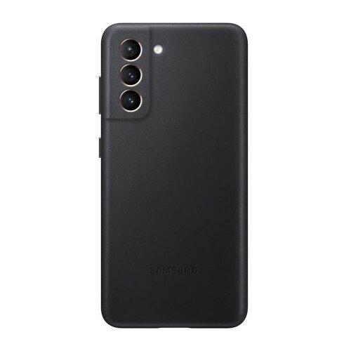 Puzdro Samsung Kožené EF-VG996LBE pre S21+ G996 - čierne