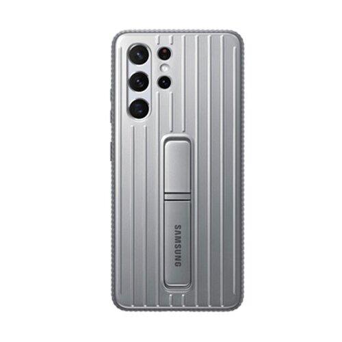 Samsung tvrdený ochranný zadný kryt so stojankom EF-RG998CJE pre S21Ultra, šedé