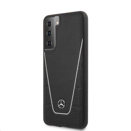 MEHCS21SCLSSI Mercedes Dynamic Leather Kryt pro Samsung Galaxy S21 Black