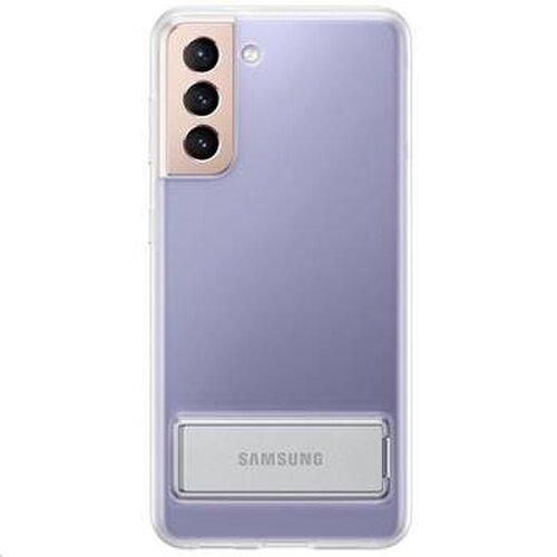 EF-JG991CTE Samsung Clear Standing Kryt pro Galaxy S21 Transparent