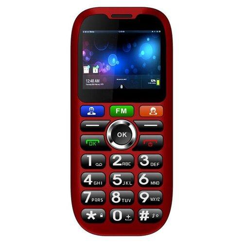 CUBE1 S100 Senior Dual SIM, Červený - porušené balenie