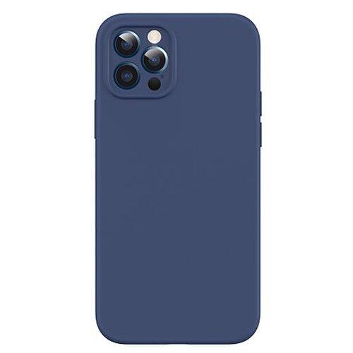 USAMS US-BH728 Magnetic Liquid Silicon Kryt pro iPhone 12 Mini Blue