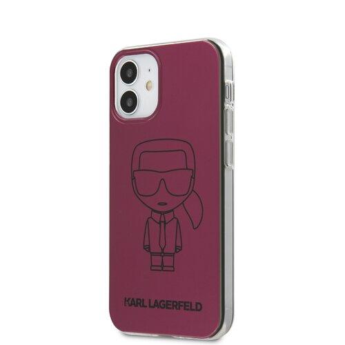 Puzdro Karl Lagerfeld pre iPhone 12 Mini (5.4) KLHCP12SPCUMIKPI silikónové, ružové