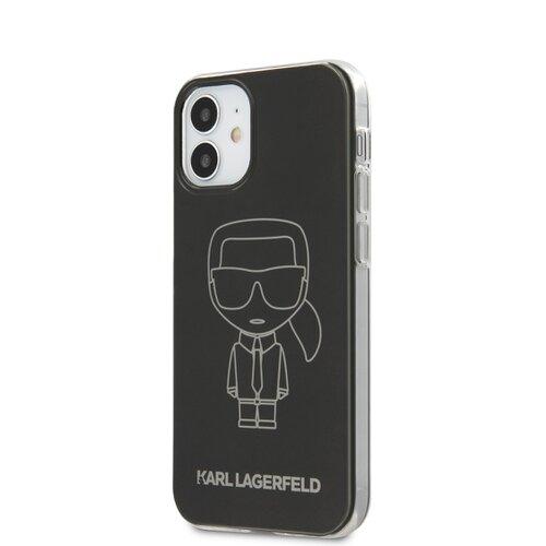 Puzdro Karl Lagerfeld pre iPhone 12 Mini (5.4) KLHCP12SPCUMIKBK silikónové, čierne