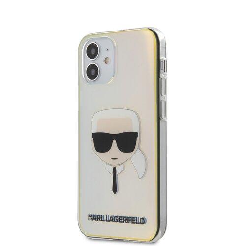 Puzdro Karl Lagerfeld pre iPhone 12 Mini (5.4) KLHCP12SPCKHML silikónové, čierne