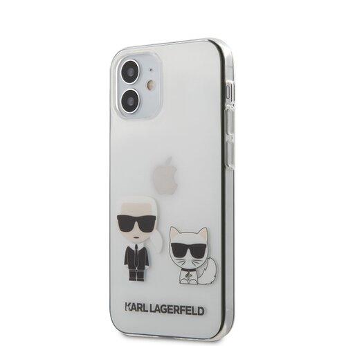 Puzdro Karl Lagerfeld pre iPhone 12 Mini (5.4) KLHCP12SCKTR silikónové, transparentné