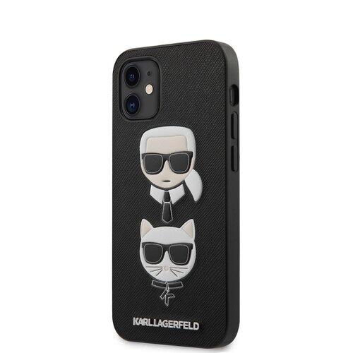 Puzdro Karl Lagerfeld pre iPhone 12 Mini (5.4) KLHCP12SSAKICKCBK silikónové, čierne