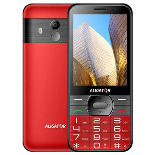 Aligator A900 GPS Senior Dual SIM, Červený + stolná nabijačka - porušené balenie
