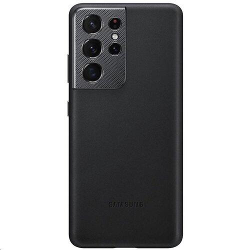 EF-VG998LBE Samsung Kožený Kryt pro Galaxy S21 Ultra Black