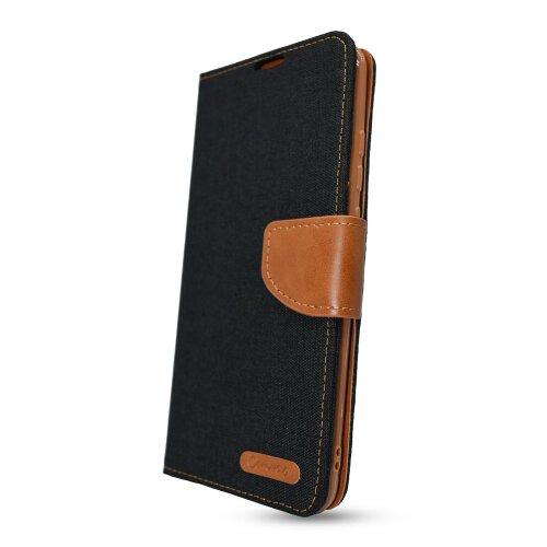 Puzdro Canvas Book Samsung Galaxy A12 A125 - čierne