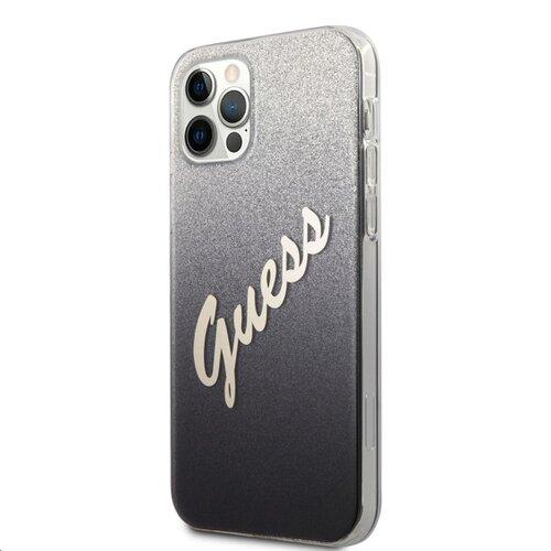 GUHCP12LPCUGLSBK Guess PC/TPU Vintage Zadní Kryt pro iPhone 12 Pro Max 6.7 Gradient Black