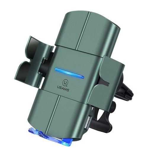 Držiak do auta s bezdrôtovým nabíjaním USAMS CD132 Automatic Coil Air Con. 15W Čierny