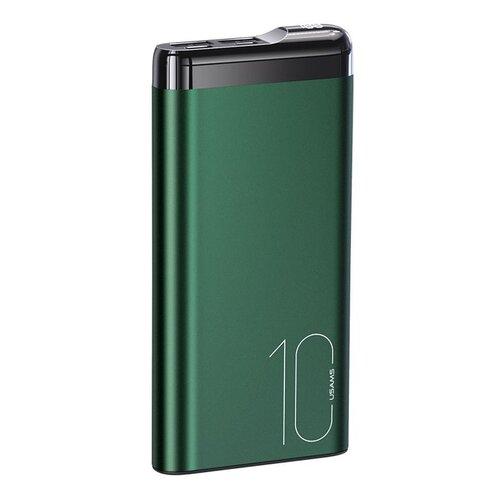 Power Bank USAMS CD148 s displejom 10000mAh Zelený