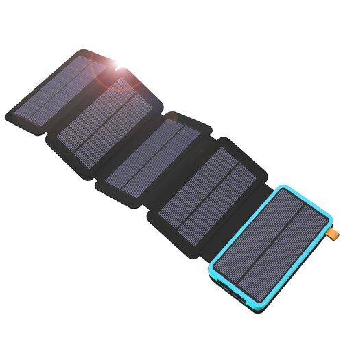 Solárna nabíjačka Allpowers XD-SC-010-BBLU 7,5W + 20000mAh Power Bank Modro-čierna