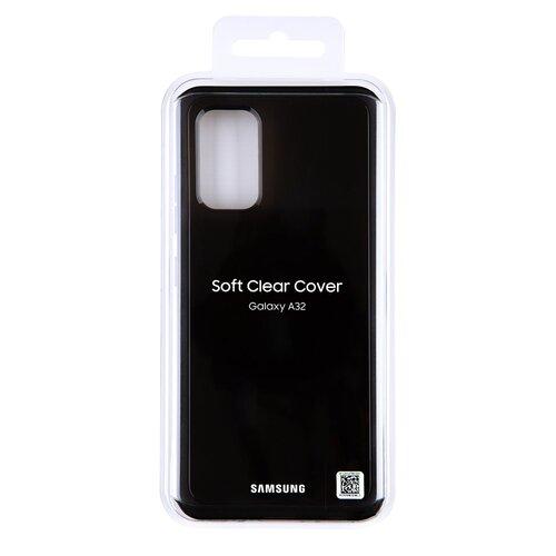 EF-QA325TBE Samsung Soft Clear Kryt pro Galaxy A32 LTE Black