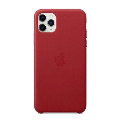 MX0F2ZM/A Apple Kožený Kryt pro iPhone 11 Pro Max Red