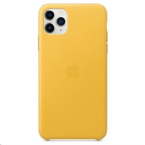 MX0A2ZM/A Apple Kožený Kryt pro iPhone 11 Pro Max Lemon