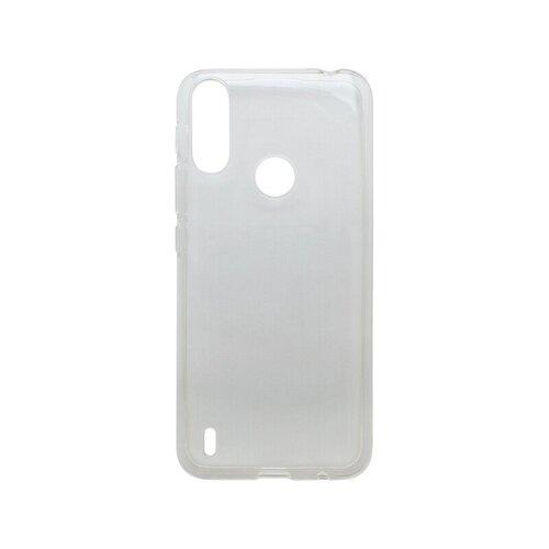 Motorola E7 Power gumené puzdro, priehľadné Moist