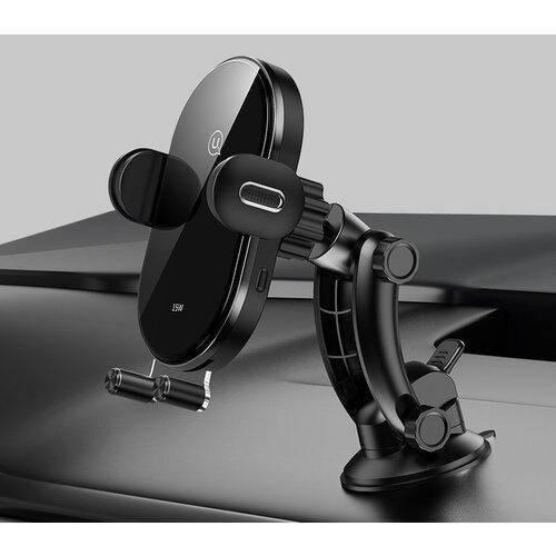 Držiak do auta s bezdrôtovým nabíjaním USAMS CD131 Automatic Coil 15W Čierny