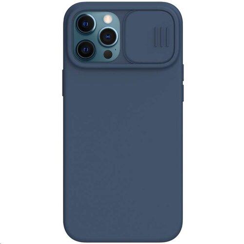 Nillkin CamShield Silky Magnetic Silikonový Kryt pro iPhone 12 Pro Max 6.7 Blue