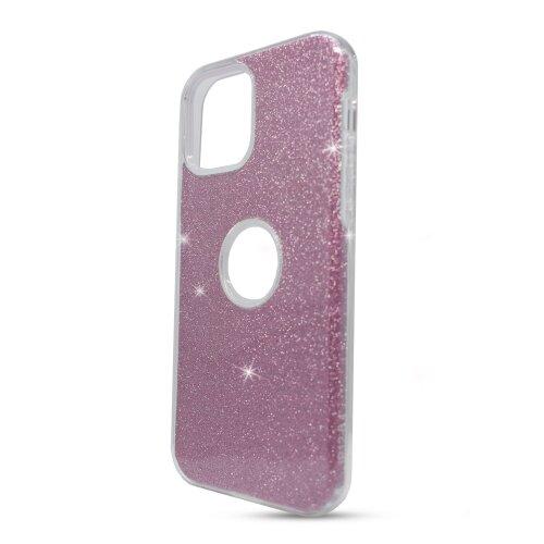 Puzdro Shimmer TPU iPhone 12 Pro Max - ružové