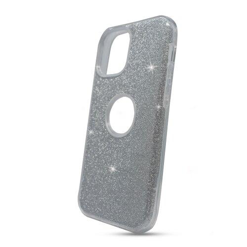 Puzdro Shimmer TPU iPhone 12 Pro Max - strieborné