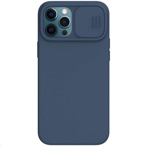 Nillkin CamShield Silky Silikonový Kryt pro iPhone 12 Pro Max 6.7 Blue