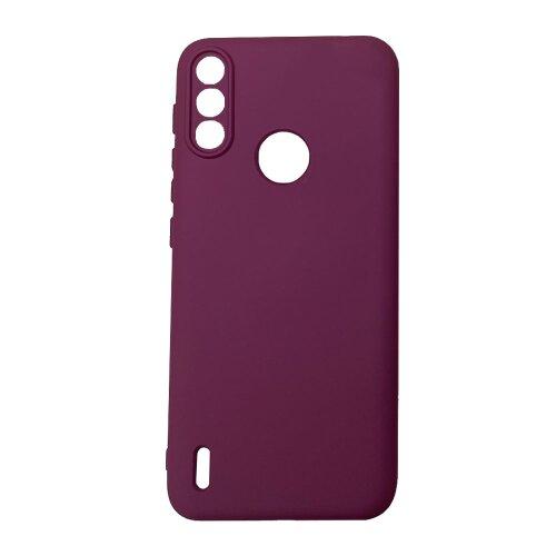 Puzdro Liquid Lite TPU Motorola E7 Power - červené (vínové)