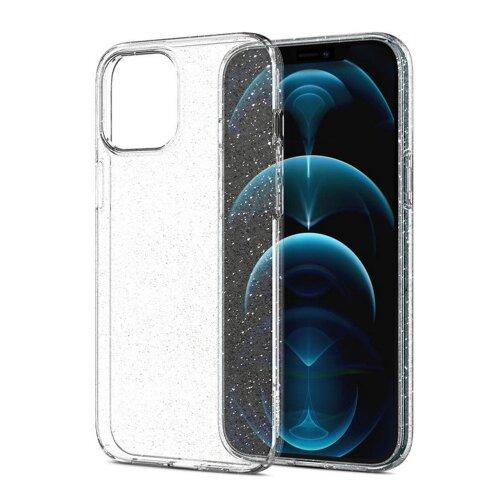 Puzdro Spigen Liquid Crystal iPhone 12/12 Pro - transparentné s trblietkami