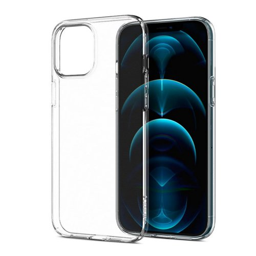 Puzdro Spigen Liquid Crystal iPhone 12 Pro Max - transparentné