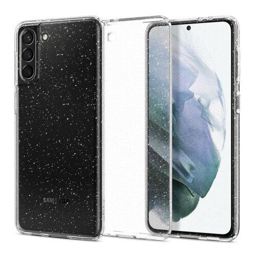 Puzdro Spigen Liquid Crystal Samsung Galaxy S21 G991 - transparentné s trblietkami