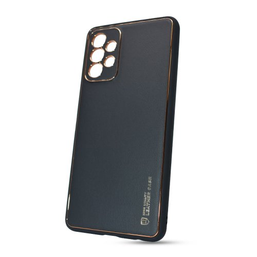 Puzdro Leather TPU Samsung Galaxy A72 A726 - čierne