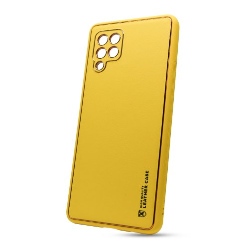 Puzdro Leather TPU Samsung Galaxy A42 A426 - žlté