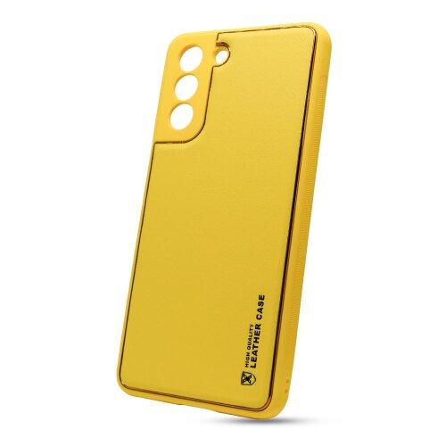 Puzdro Leather TPU Samsung Galaxy S21 G991 - žlté