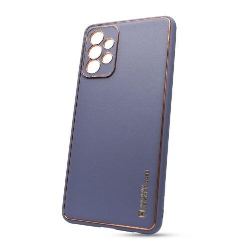 Puzdro Leather TPU Samsung Galaxy A52 A526 - modré