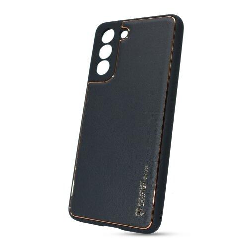 Puzdro Leather TPU Samsung Galaxy S21 G991 - čierne