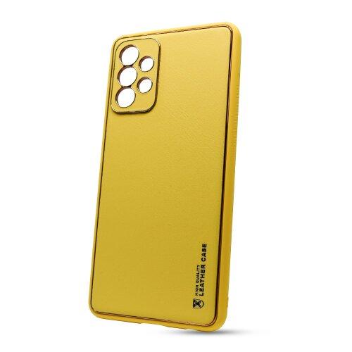 Puzdro Leather TPU Samsung Galaxy A72 A726 - žlté