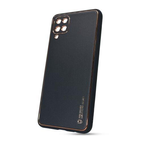 Puzdro Leather TPU Samsung Galaxy A12 A125 - čierne