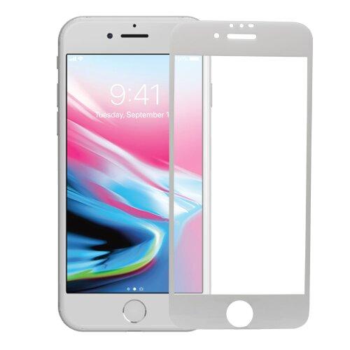 Ochranné sklo 5D Glass iPhone 6/6s celotvárové - biele (full glue)