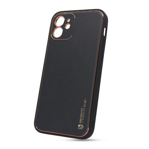 Puzdro Leather TPU iPhone 12 (6.1) - čierne